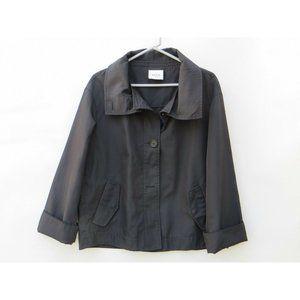 AKRIS PUNTO WOMEN'S Black 3/4 Sleeve JACKET